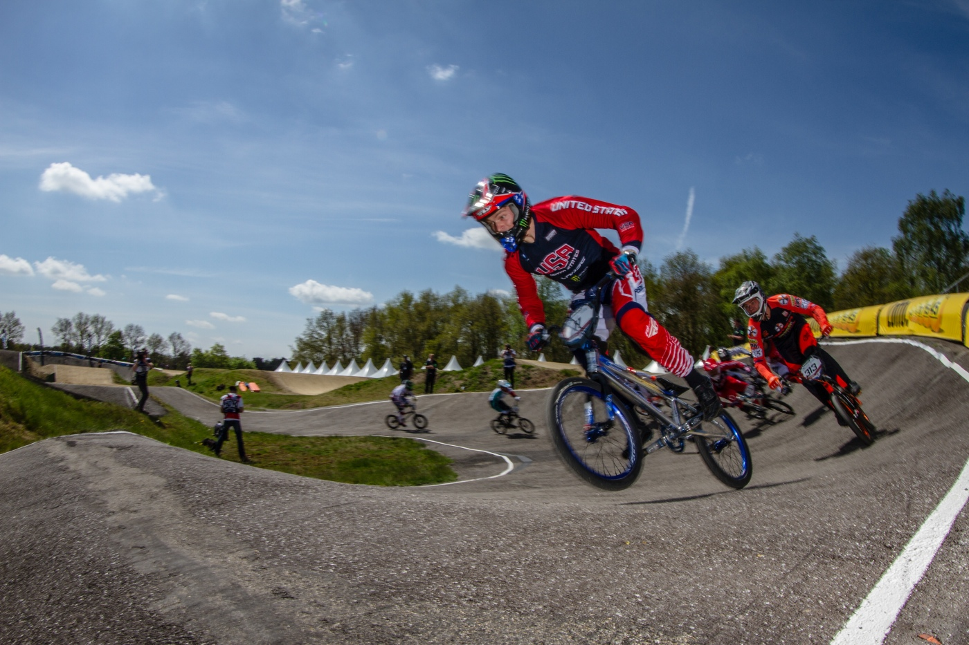 #11 (FIELDS Connor) USA at the 2015 UCI BMX Supercross World Cup in Papendal, The Netherlands