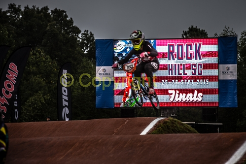 at the 2015 UCI BMX Supercross World Cup in Rock Hill, USA.